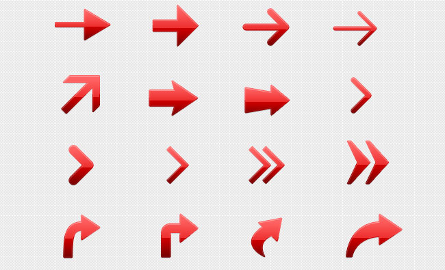 Free PSD Vector Arrow Set