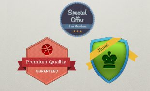 Free PSD Vector Badges and Crests