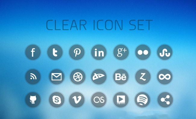 Free Clear Social Media Icons